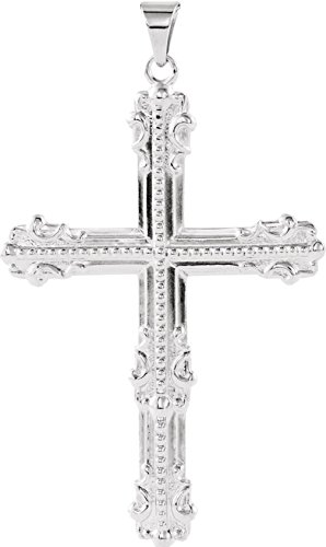 Men's Platinum Large Old-World Cross Pendant by The Men's Jewelry Store