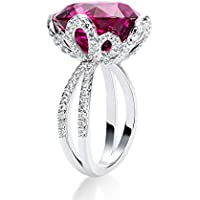 5CT Rose Red Sapphire 925 Silver Jewelry Woman Wedding Engagement Ring Size 6-10 (7)