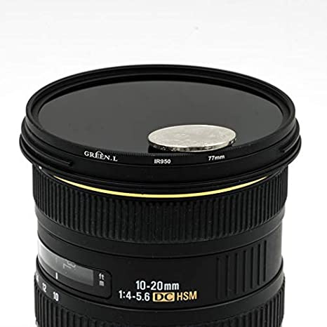 Green.L 25mm IR 950 Glass Infrared X-Ray Filter 950nm IR Filter for Camera Lens Digital DSLR SLR
