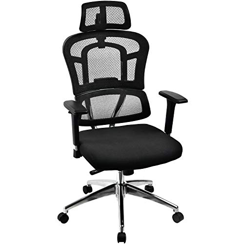 ComHoma Ergonomic Mesh Office Chair in Black Computer Desk Chair Adjustable High Back Swivel Task Chairs for Home Office Conference (Swivel Conference)