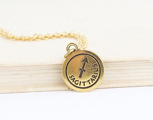 Choose Your Zodiac Sign Pendant Charm Necklace - Gold Plated Pewter - Nickel and Lead-free