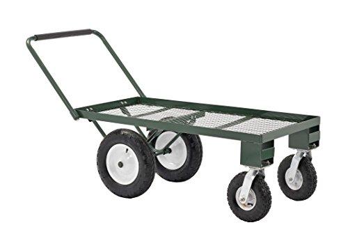 Sandusky Fw4824 Heavy Duty Steel 4 Wheel Flat Wagon With