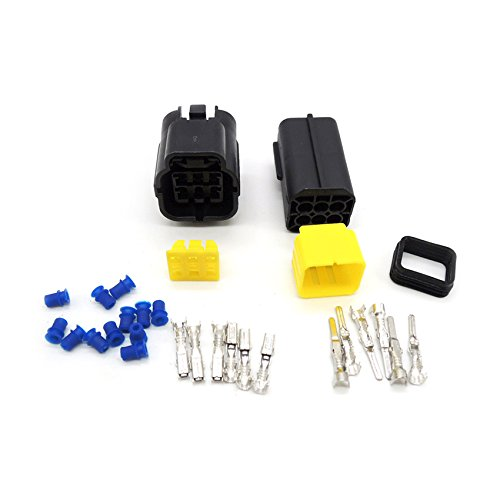 5 set 6 Pin Way Waterproof Wire Connector Plug Car Auto Sealed Electrical Set Car Truck denso connectors Ogry