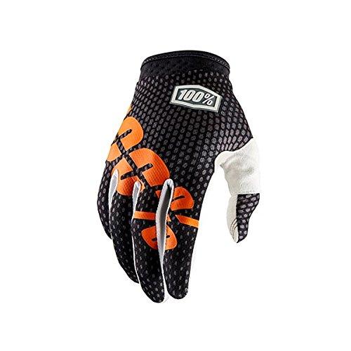 100 % iTrack 2017メンズレザー/Textileオフロードバイク手袋 M ブラック 10002-052-11_Gris/Orange B075G241LR Medium チャコールグレー チャコールグレー Medium