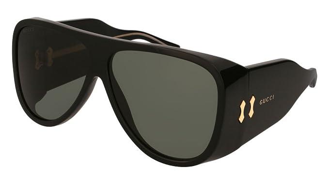 997c69773ff Amazon.com  Gucci GG0149S Sunglasses 003 Black   Grey Lens 63 mm ...