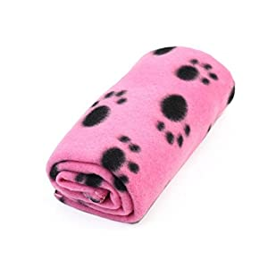 Sharing Star 1 Piece Cute Soft Puppy Blanket Paw Prints Pet Cushion Small Dog Cat Bed Soft Warm Sleep Mat (Pink) Click on image for further info.