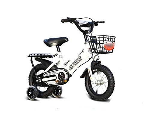 GETTEER 子ども用自転車 自転車 子供用 フラッシュ補助輪付き 格好いい 簡単組み立て式 B07DBNXNQV 14インチ|ホワイト ホワイト 14インチ