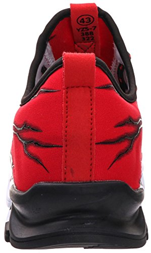 BRONAX Boys Running Shoes Slip on Casual Sneakers Trail Walking Jogging Athletic Sport Gym Workout Fitness Tennis Jog Shoes for Young Mens Red Size 6 by BRONAX (Image #4)