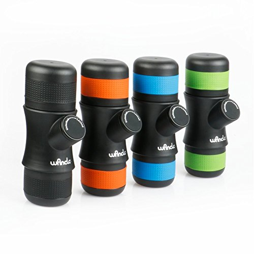 Wancle Mini Portable Espresso Machine Coffee Maker Travel for Camping + 3 Color Silicone Case