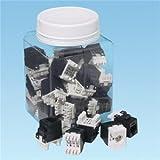 Panduit - NKP5E88MIW-Q - Panduit NKP5E88MIW-Q NetKey Category 5e UTP Jack Module - 25 Pack - 1 x RJ-45 Female - Off White