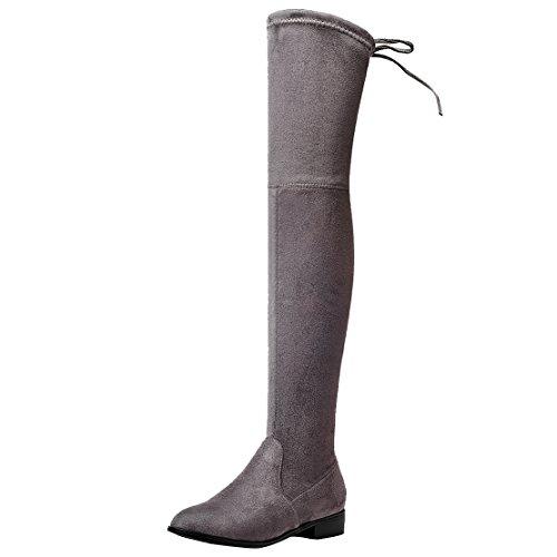 WoMen Classic AIYOUMEI Grey Boot Dark dCqBzq