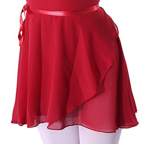 woosun Adult Ladies Ballet Wrap Over Scarf Dance Leotard Skate Tutu Skirt Chiffon 38cm (Scarf Over)