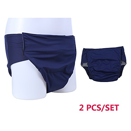 Pañales para adultos, cubre la incontinencia, ropa interior para mujeres y hombres, impermeable, pañales para ropa - lavable y reutilizable, ...