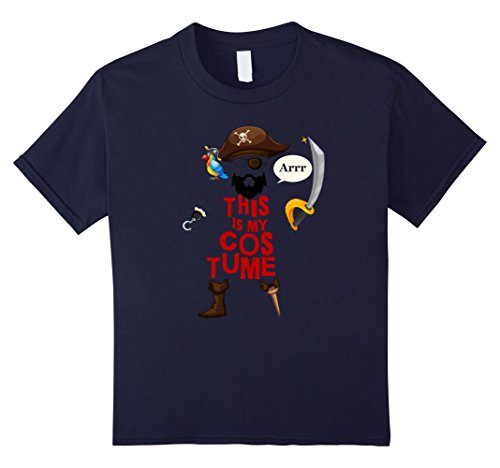 Bearded Baby Costume (Kids This Is My Pirate Costume Shirt Funny Halloween Tee 12 Navy)