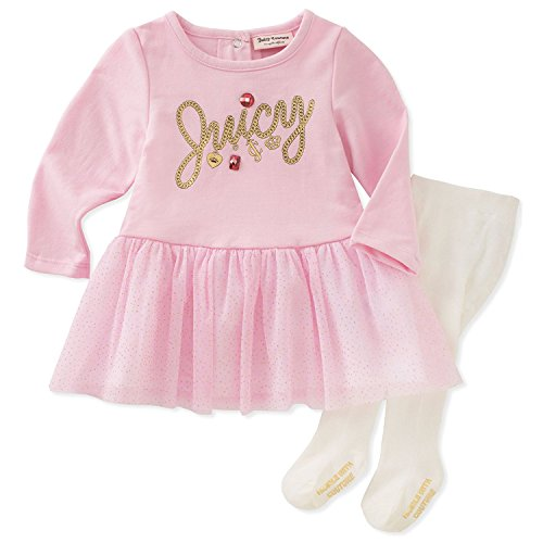 Juicy Couture Girls' Dress and Tight Set, Pink