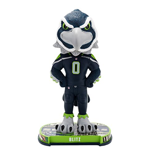 Mascot Seattle Seahawks - Seattle Seahawks Mascot Headline Bobble
