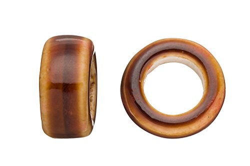Ring Style Licorice Ceramic Bead Fits 10x8mm Licorice Leather Earth Glazed Finished