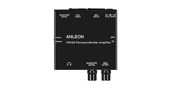 Anleon - Amplificador de auriculares para monitor de oído: Amazon.es: Instrumentos musicales