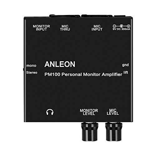 ANLEON PM100 Personal Monitor Amplifier for keyboard player singer drummer live musicians ()