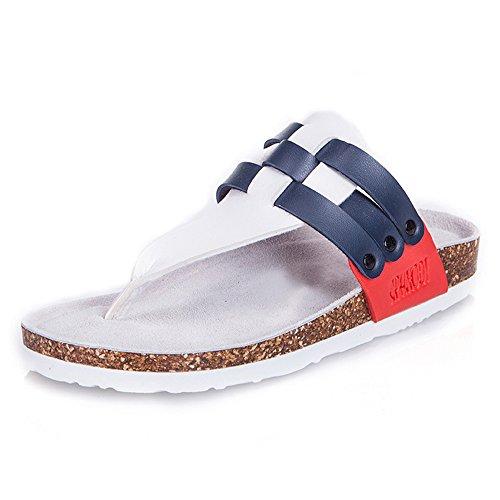 Verano Tejen moda Pares De De Color 1001 Zapatos La Frescas Del Tamaño 1002 LIXIONG De Los Que de Colores UK9 CN44 Zapatillas Portátil Zapatos Corcho Femeninos Playa Zapatillas 2 EU43 wTxTYqBzO