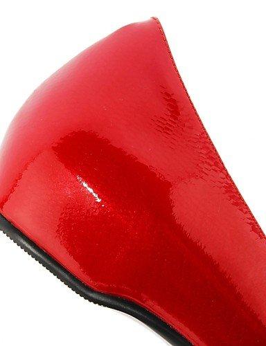 Talons Pointu talons Bout cuir chaussures Blanc Travail Eu38 Ggx 5 Uk5 Bleu Rouge À noir us7 Femme bureau talon Décontracté amp; Bas 5 Chaussures Cn38 Blue qOF6w7T