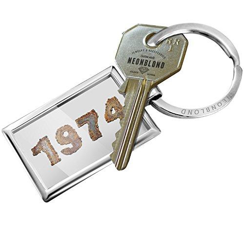 NEONBLOND Keychain 1974 Rusty Vintage Metal -