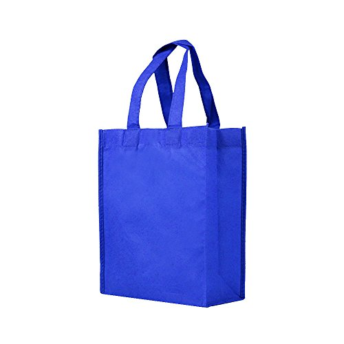Reusable Gift/Party/Lunch Tote Bags - 25 Pack - Royal Blue