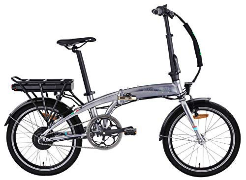 (BENELLI Electric Bike City Zero N2.0 STD 20 Inch Foldable 250W 2018 New for Trunk Subway Bus Office Home with 36V 6.6Ah Samsung Lithium-ion Battery (Silver))