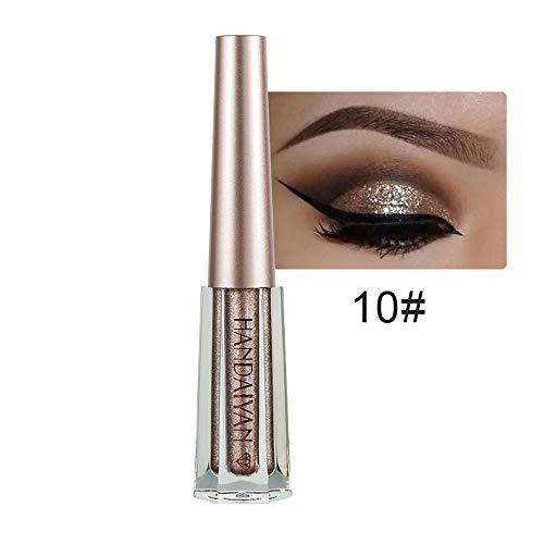 NEEKEY Shiny Eyeshadow Liquid, Metallic Shiny Eyeshadow Waterproof Flash Liquid ()