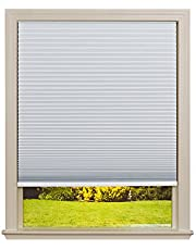 """Easy Lift Trim-at-Home Cordless Cellular Blackout Fabric White, 60"""" x 64"""", (Fits Windows 43""""-60"""")"""