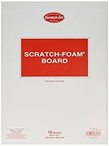 Melissa & Doug Scratch Art Scratch-Foam Board (9 x 12 inches) - 12 Boards