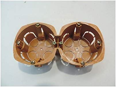 Boite dencastrement double cloison seche 2 postes independants entraxe 71mm prof 40mm /Ø 68mm marron SIB ADR P12871