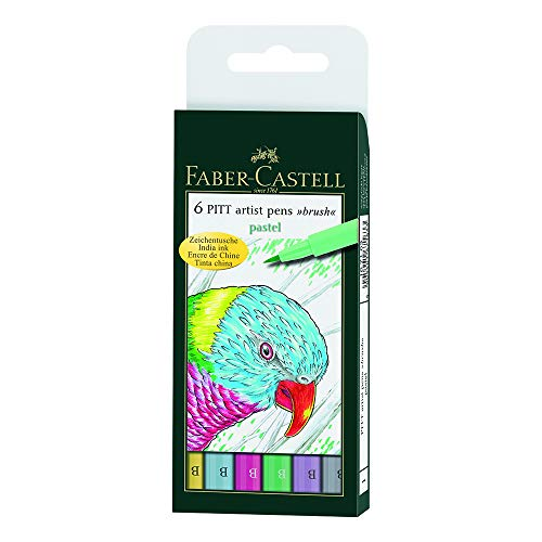 Faber-Castell Pitt Artists Pen Set 6 Pastel