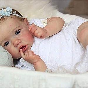 Reborn Dolls 22inch Reborn Babies 55 Cm Saskia Toddler Girl Handmade Vinyl Real Lifelike Baby Doll Weighted Nurturing…