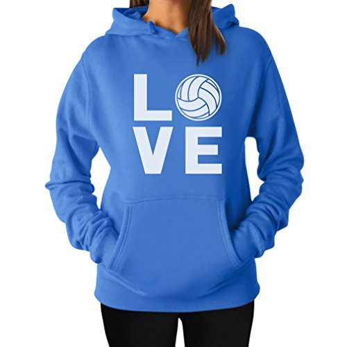 TeeStars - Love Volleyball - Perfect Gift for Volleyball Fans Women Hoodie Small California Blue