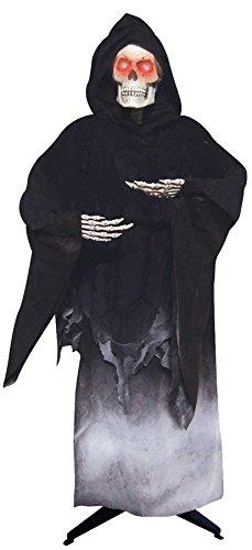 [Life Size Black Scary Grim Reaper Standing Halloween Haunted Prop] (Black Spider Animated Prop)