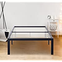 Olee Sleep 14 Inch Tall T-3000 Ultra Wood Slat Steel / Non-Slip Bed Frame 14BF06T