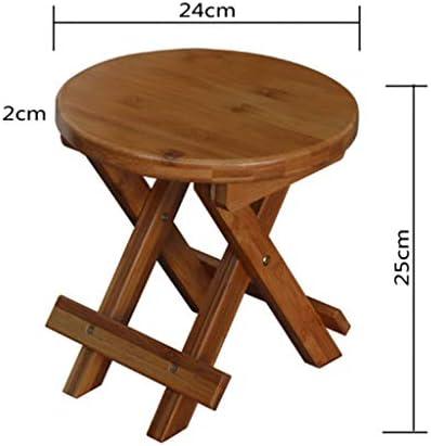 XUQIANG Foldable Bamboo Stool Stool Small Mazar Portable Outdoor Wood Fishing Folding chair