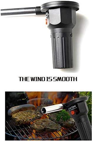 DYG Portable BBQ Ventilateur alimenté par Batterie Barbecue Ventilateur feu Ventilateur pour Camping en Plein air de Pique-Nique Barbecue au Charbon Barbecue pour Ventilateur