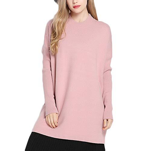 Maglione a maniche lunghe con cappuccio ampio e allentato da donna, autunno e inverno Pink