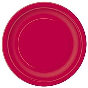 Platos rojos grandes (16)