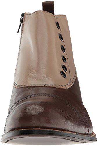 Stacy Adams Mens Madison Cap-toe Spottade Boot Brun Multi - 026