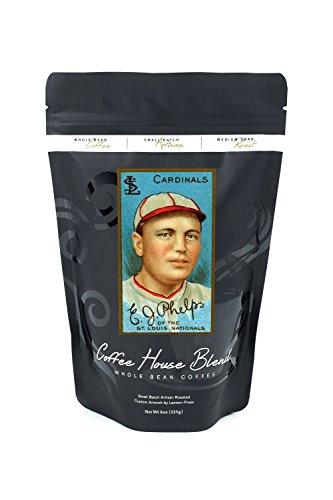 St. Louis Cardinals - Edward J. Phelps - Baseball Card (8oz Whole Bean Small Batch Artisan Coffee - Bold & Strong Medium Dark Roast w/ Artwork) (Phelps Cards)