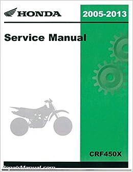 2005 2006 honda crf450x service repair shop manual minor wear.