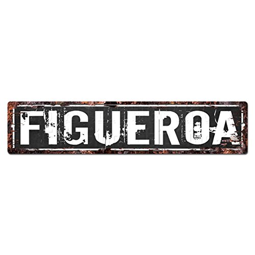 Figueroa Street - FIGUEROA MAN CAVE Street Sign Chic Rustic Street Plate Sign Bar Cafe Restaurant shop Home man cave Decor sign