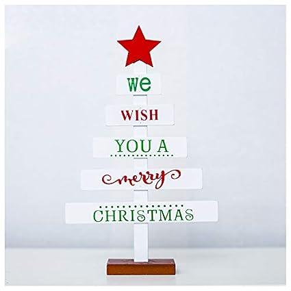 Gespout.Decoraciones Navide/ñas Cartas Creativas Decoraciones para /árboles de Navidad Pintadas Decoraciones Navide/ñas Tarjetas de Mesa Size 29cm*18cm White