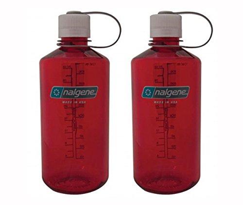 NALGENE Tritan 1-Quart Narrow Mouth BPA-Free Water Bottle (Outdoor Red Set of 2)