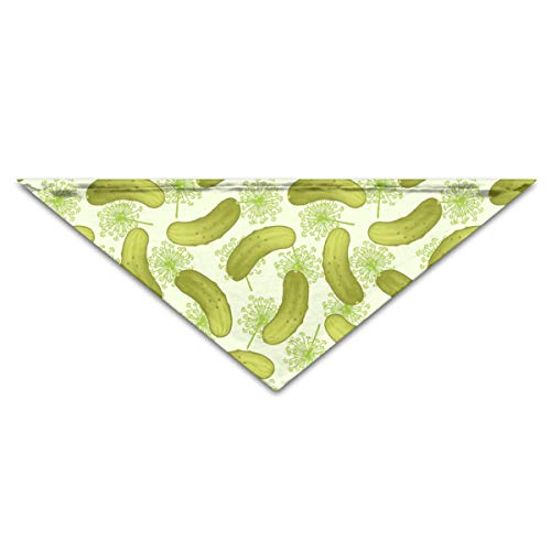 OLOSARO Dog Bandana Dill Pickles Triangle Bibs Scarf Accessories for Dogs Cats Pets -