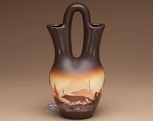 Native Pottery Indian (Mission Del Rey Native American Navajo Wedding Vase 10