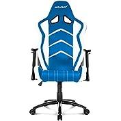 AKRACING AK-6014 Ergonomic Series Racing Gaming Office Executive Chair - White/Blue